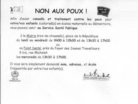 Häufig Note de la Mairie sur les poux - école élémentaire Saint-Martial IR31